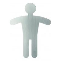 Tabliczka 90x120 mm symbol: WC dla panów, Tablice, Prezentacja