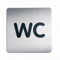 Tabliczka 150x150 mm symbol: WC, Tablice, Prezentacja