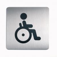 Tabliczka 150x150 mm symbol: WC-niepełnosprawni, Tablice, Prezentacja