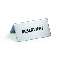 Tabliczka na stół Reserviert / Reserved, 85 x 50 x 36 mm, Tablice, Prezentacja