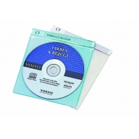 CD TOP COVER, kieszeń na CD z PP z kieszenią na dokumenty i paskiem na opis, Pudełka i opakowania na CD/DVD, Akcesoria komputerowe