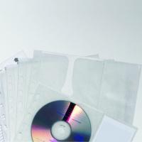 Kieszeń na 4 CD z PP z wyściółką ochronną, do segr. A4, Pudełka i opakowania na CD/DVD, Akcesoria komputerowe