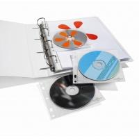 CD/DVD COVER FILE kieszonki z PP z wyściółką ochronną na 1 CD/DVD i opis, Pudełka i opakowania na CD/DVD, Akcesoria komputerowe