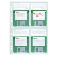 """Kieszeń na 4 dyskietki (4 x 3. 5""""), Pudełka i opakowania na CD/DVD, Akcesoria komputerowe"""