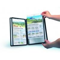 Panele SHERPA® PIN A4 - ramki w kolorze czarnym z wystającymi bolcami, Systemy prezentacyjne, Prezentacja
