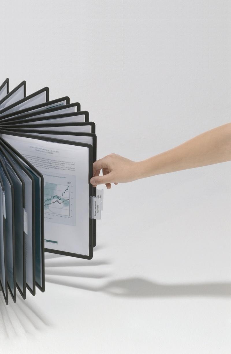 SHERPA® CAROUSEL 40 -moduł obrotowy z 40 czarnymi panelami A4, Systemy prezentacyjne, Prezentacja