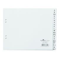 Przekładki PP A4 białe, nadrukowane indeksy, A-Z, Przekładki polipropylenowe, Archiwizacja dokumentów