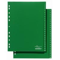 Przekładki A4 zielone, nadrukowane indeksy, 1-52, Przekładki polipropylenowe, Archiwizacja dokumentów