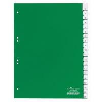 Przekładki A4 zielone, zgrzane wymienne indeksy, A-Z 20 części, Przekładki polipropylenowe, Archiwizacja dokumentów