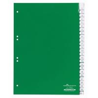 Przekładki A4 zielone, zgrzane wymienne indeksy, A-Z 25 części, Przekładki polipropylenowe, Archiwizacja dokumentów
