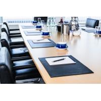 Podkład na biurko ze skóry 420 x 300 mm, Podkładki na biurko, Wyposażenie biura