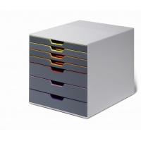 VARICOLOR 7, pojemnik z siedmioma kolorowymi szufladkami. Wymiary: 280x292x356 mm (WxSxG), Take a break, Wyposażenie biura