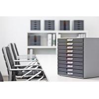 VARICOLOR 10, pojemnik z dziesięcioma kolorowymi szufladkami. Wymiary: 280x292x356 mm (WxSxG), Take a break, Wyposażenie biura