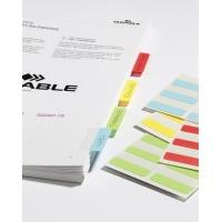 QUICK TAB samoprzylepne jednostronne indeksy, szer. 40 mm, Etykiety samoprzylepne, Papier i etykiety