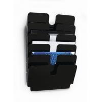 FLEXIPLUS A4 6 poziomych pojemników na dokumenty, kolor czarny, Prezentery i sortery, Prezentacja