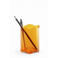 TREND pojemnik na długopisy, pomarańczowy-przezroczysty, Przyborniki na biurko, Drobne akcesoria biurowe