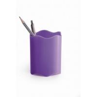 TREND pojemnik na długopisy, fioletowy, Przyborniki na biurko, Drobne akcesoria biurowe