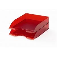 BASIC tacka na dokumenty A4, czerwony-przezroczysty, Pojemniki na dokumenty i czasopisma, Archiwizacja dokumentów