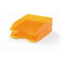 BASIC tacka na dokumenty A4, pomarańczowy-przezroczysty, Pojemniki na dokumenty i czasopisma, Archiwizacja dokumentów