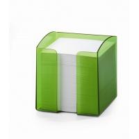 TREND pojemnik z karteczkami, jasnozielony-przezroczysty, Take a break, Wyposażenie biura