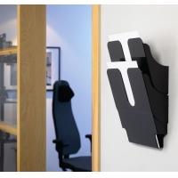 FLEXIPLUS A4 2 pionowe pojemniki na dokumenty, czarne, Pojemniki na dokumenty i czasopisma, Archiwizacja dokumentów
