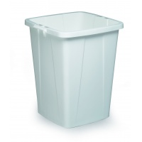DURABIN 90 pojemnik 90 l, biały, Kosze plastik, Wyposażenie biura