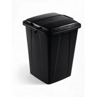DURABIN 90 pojemnik 90 l, czarny, Kosze plastik, Wyposażenie biura