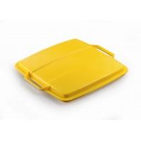 DURABIN LID 90 pokrywa do pojemnika 90 l, żółty, Kosze plastik, Wyposażenie biura