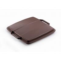 DURABIN LID 90 pokrywa do pojemnika 90 l, brązowy, Kosze plastik, Wyposażenie biura