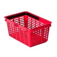 SHOPPING BASKET 19, koszyk na zakupy, czerwony, Take a break, Wyposażenie biura