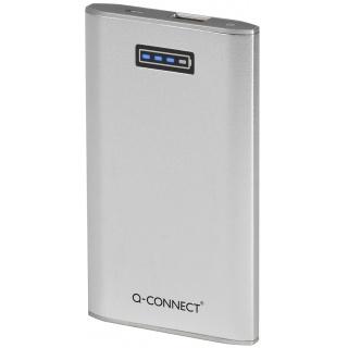 Powerbank, ładowarka przenośna Q-CONNECT, 5. 300 mAh, srebrna, Powerbank, Akcesoria komputerowe