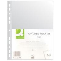 Koszulka na dok. PP Q-CONNECT PP, A4, groszkowe, 40mikr. 25szt., Koszulki i obwoluty, Archiwizacja dokumentów