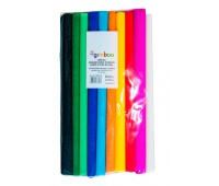 Creped paper roll, GIMBOO, 25x200cm, 10pcs, assorted colours