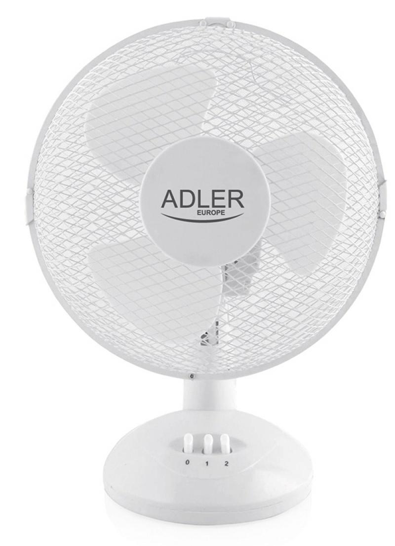 Wentylator ADLER AD 7302, stojący, śr. 23cm, 35W, biały, Wentylatory, Wyposażenie biura
