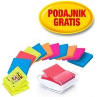 karteczki, bloczek, notes, karteczki samoprzylepne, post it, bloczek samoprzylepny, post-it, kartki samoprzylepne, karteczki samoprzylepny, bloczki, postit, BLOCZEK, PRO-W-12SSCOL-R330, z-notes, Z-Notes, kolorowe, zestaw promocyjny, gratis, podajnik