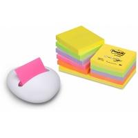 Podajnik do bloczków samoprzylepnych POST-IT® Stone by Karim Rashid (PBL-W12), biały, w zestawie 12 bloczków Z-Notes