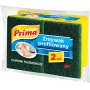 Gąbka do zmywania PRIMA, profilowana, 2szt., żółta