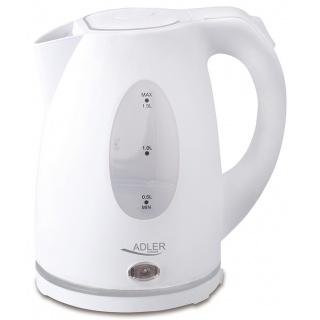 Czajnik elektryczny ADLER AD 1207, 1, 5L, tworzywo, biały, Czajniki, Wyposażenie biura