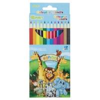 Kredki ołówkowe GATARIC, 12szt., mix kolorów, Plastyka, Artykuły szkolne