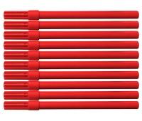 Flamaster biurowy OFFICE PRODUCTS, 10szt., czerwony, Flamastry, Artykuły do pisania i korygowania