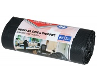 Office garbage bags, OFFICE PRODUCTS, strong (LDPE), 60 l, 20pcs, black