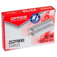 Zszywki OFFICE PRODUCTS, 23/10, 1000szt., Zszywki, Drobne akcesoria biurowe
