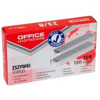 Zszywki OFFICE PRODUCTS, 23/8, 1000szt., Zszywki, Drobne akcesoria biurowe
