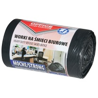 Office garbage bags, OFFICE PRODUCTS, strong (LDPE), 35 l, 50pcs, black
