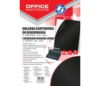Binding covers, OFFICE PRODUCTS, cardboard, A4, 250 gsm, 100 pcs, black, glossy