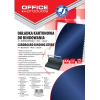 Binding covers, OFFICE PRODUCTS, cardboard, A4, 250 gsm, 100 pcs, glossy, dark blue