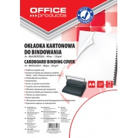 Binding covers, OFFICE PRODUCTS, cardboard, A4, 250 gsm, 100 pcs, glossy, white