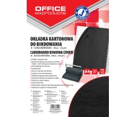 Binding covers, OFFICE PRODUCTS, cardboard, A4, 250 gsm, 100 pcs, leather-like, black