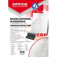 Binding covers, OFFICE PRODUCTS, cardboard, A4, 250 gsm, 100 pcs, leather-like, white