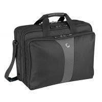 "Triple Gusset Briefcase WENGER Legacy 17""/43cm, black/gray"